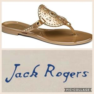 ☀️Jack Rogers Georgica Jelly Sandal {Gold} 5